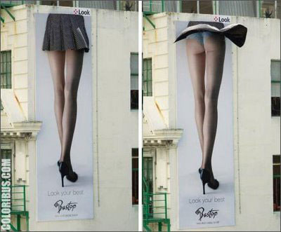 Just to compare billboards that are put up on buildings.