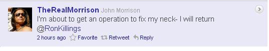 John Morrison Hurt?