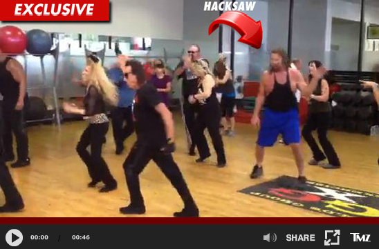 "Cast of WWE ""Legends House"" does Zumba, recreates seven-car pile-up"