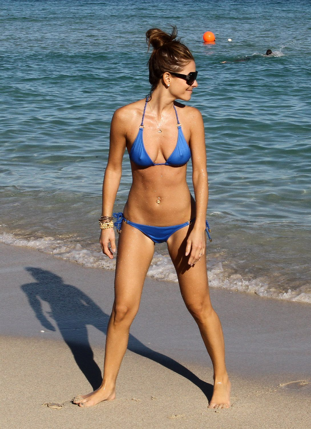 Maria Menounos has broken ribs. Pierced clit hopefully fine.
