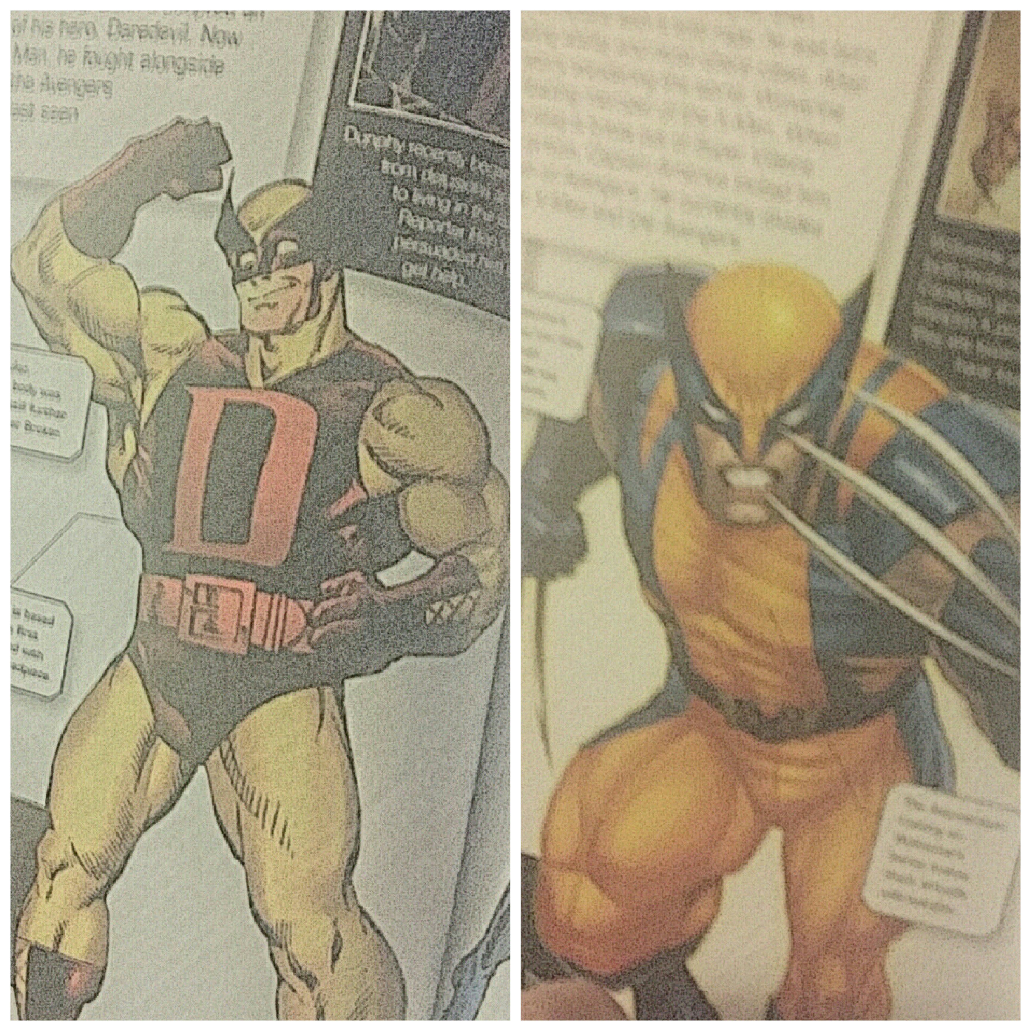 Demolition Man and Wolverine from Marvel - The Ultimate Character Guide