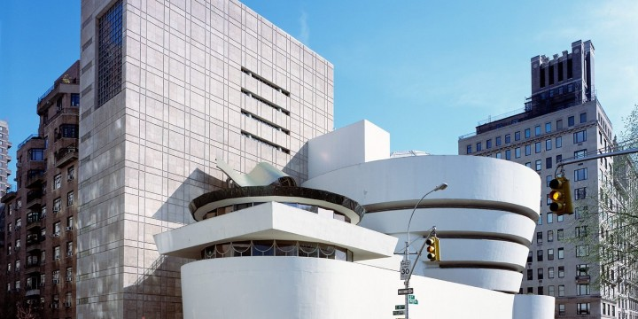 The Guggenheim Museum in New York City by Frank Lloyd Wright.