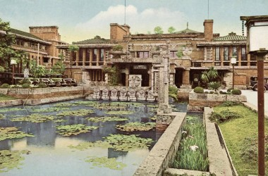 The Imperial Hotel in Tokyo designed by Frank Lloyd Wright