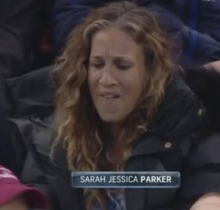 This screen cap of Sarah Jessica Parker brought the show to a screeching halt.