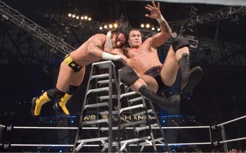Randy Orton and CM Punk at Wrestlemania 23. Saved from sportskeeda.com